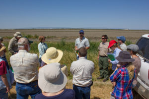 Chris Campbell leading a tour of the Yolo Bypass.